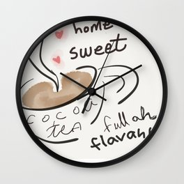 Cocoa Tea Lover Wall Clock