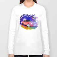 mustang Long Sleeve T-shirts featuring 65 Mustang by JT Digital Art