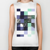 eiffel Biker Tanks featuring EIFFEL by Marcela Solana