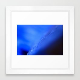 blue scar Framed Art Print