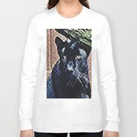 panther Long Sleeve T-shirts featuring Panther by grapeloverarts