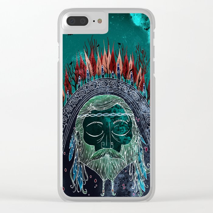 Bran's Head Clear iPhone Case