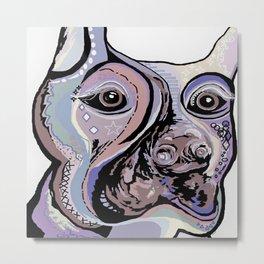 Doberman in Denim Colors Metal Print