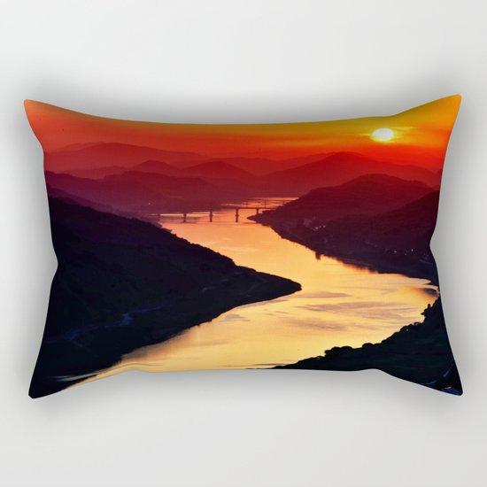 Sunset at the River Rectangular Pillow