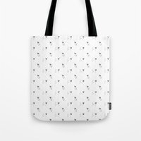 pugs Tote Bags featuring Pugs bw by Luiza Sequeira
