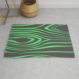 Green Wood Pattern On Gray Background #society6 Rug