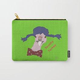 Spunky Turkey Purple Hair GB TX Carry-All Pouch