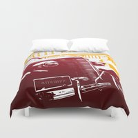 law Duvet Covers featuring The Law by Steel Graphics