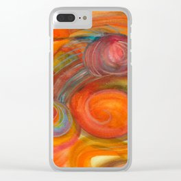 Sounds of Watercolors I Clear iPhone Case