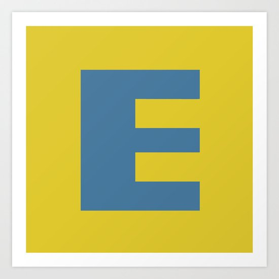 E is for Emeline :-) Art Print