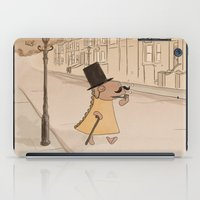 moustache iPad Cases featuring Moustache by Loezelot