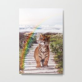 Tigers soap bubbles Metal Print