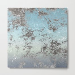 Blue gray abstract pattern Metal Print