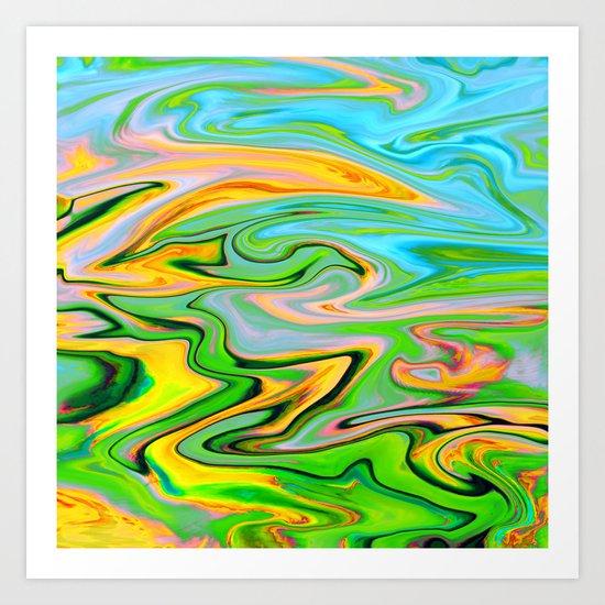 Marbled XIV Art Print