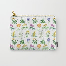 Seamless Herbs Pattern Carry-All Pouch