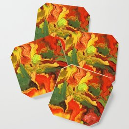 abstract fall leaves Coaster