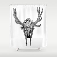 elk Shower Curtains featuring Elk by Michael Arras