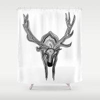 elk Shower Curtains featuring Elk by Michael Arras