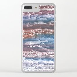 Pink blue abstract Clear iPhone Case