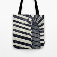 striped Tote Bags featuring Striped by farsidian