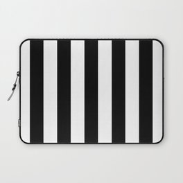Stripes Black And White Laptop Sleeve