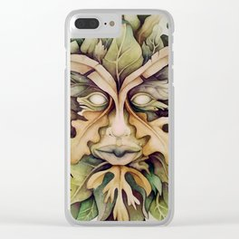 Green Man Clear iPhone Case