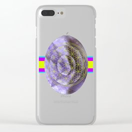 Mystical Flower of Life Amethyst #society6 Clear iPhone Case