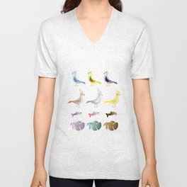 Animals 9 Unisex V-Neck