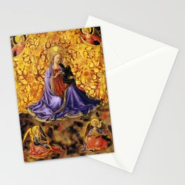 """Fra Angelico (Guido di Pietro) """"Madonna of Humility with Angels"""" Stationery Cards"""