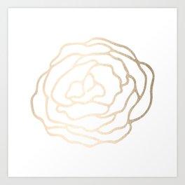 Flower in White Gold Sands Art Print