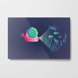 20 000 Pixels Under the Sea Metal Print