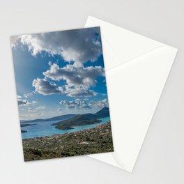 Nidri bay in Lefkas Stationery Cards