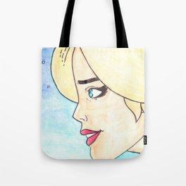 Blonde Retro Miss Atomic Bomb Tote Bag