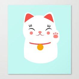 Lucky happy Japanese cat Canvas Print