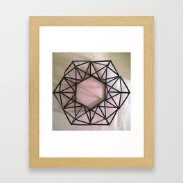 Straw wreath Framed Art Print