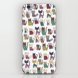 sweater cats iPhone Skin