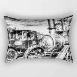 Steam Lorry And traction Engine Vintage Rectangular Pillow
