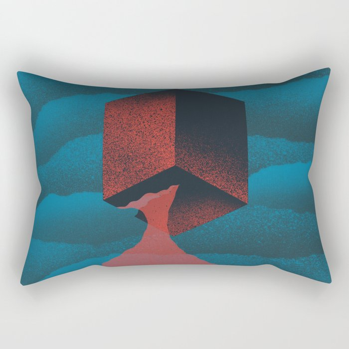 RED CUBE Rectangular Pillow