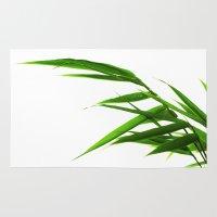 bamboo Area & Throw Rugs featuring Bamboo by Falko Follert Art-FF77