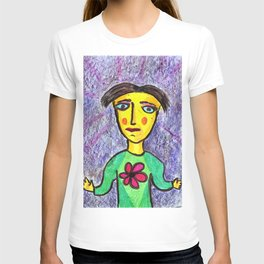 The guy and the scarlet flower. T-shirt
