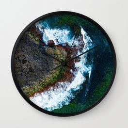 Waves and Rocks of Belowla Island Wall Clock