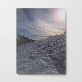 Snowshoe Trail Metal Print