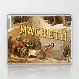 Vintage Macbeth Theatre Poster Laptop & iPad Skin