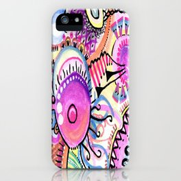 Psychedelic art leggings, phone cases and other desigh by Afrodita Art iPhone Case