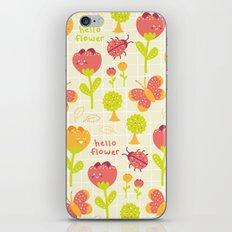 Hello Flower iPhone & iPod Skin