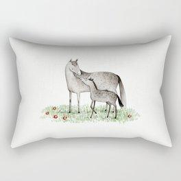 Mare & Foal Rectangular Pillow