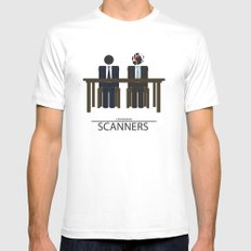 Scanners - Altenative Movie Poster Mens Fitted Tee White MEDIUM