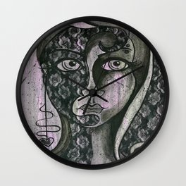 Two Sides of the Story Wall Clock