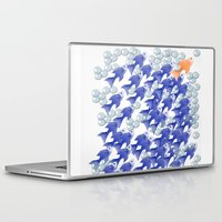 the 100 Laptop & iPad Skins featuring 100 fishes by Michelle Behar