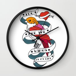 05 - TATTOO WINGS Wall Clock